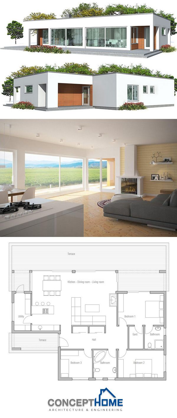 Haus design front hd small house plan  planos casas  pinterest  small house plans