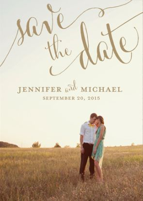 Love This Personalized Save The Date Card With Photo On It Font Used Is Cantoni Diy Wedding