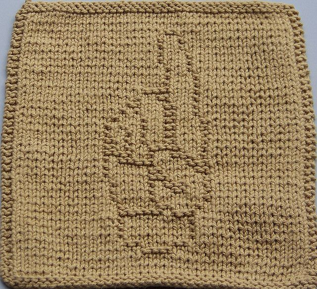Asl D Pattern By Amy Lynne Mitchell Knitted Dishcloth Patterns