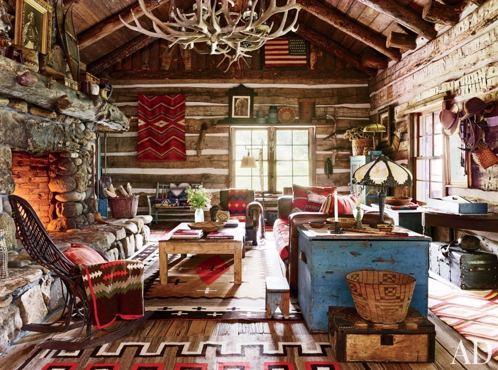 Ralph Lauren's Colorado Guest Cabin, one of five guest cabins at his Double RL Ranch. Description from pinterest.com. I searched for this on bing.com/images