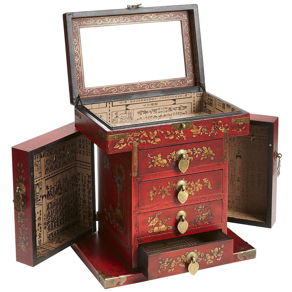 Red Peacock Jewelry Box Pier 1 Imports