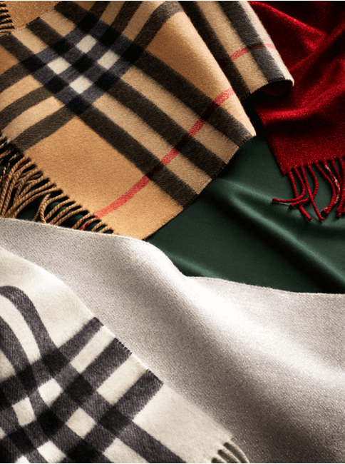 c3e0a056c1 Discover our selection of Burberry scarves in soft cashmere