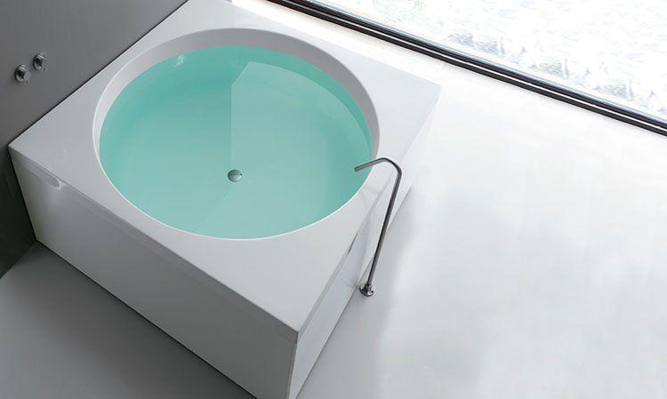 Vasca Da Bagno Piccola Quadrata : Vasca da bagno quadrata modelli da appoggio e da incasso