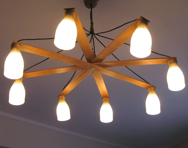 Unique Oversized Ceiling Pendant Wooden Light - Vintage Pendant Light