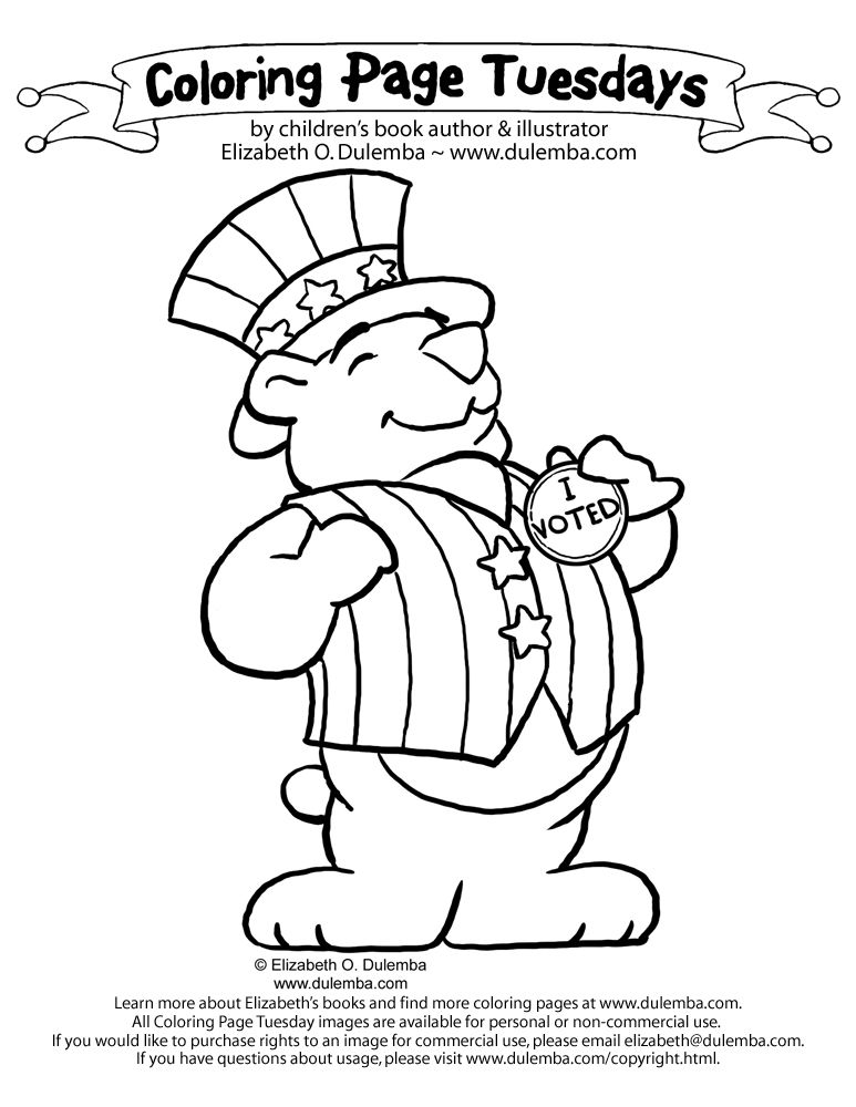 Election I Voted Coloring Pages