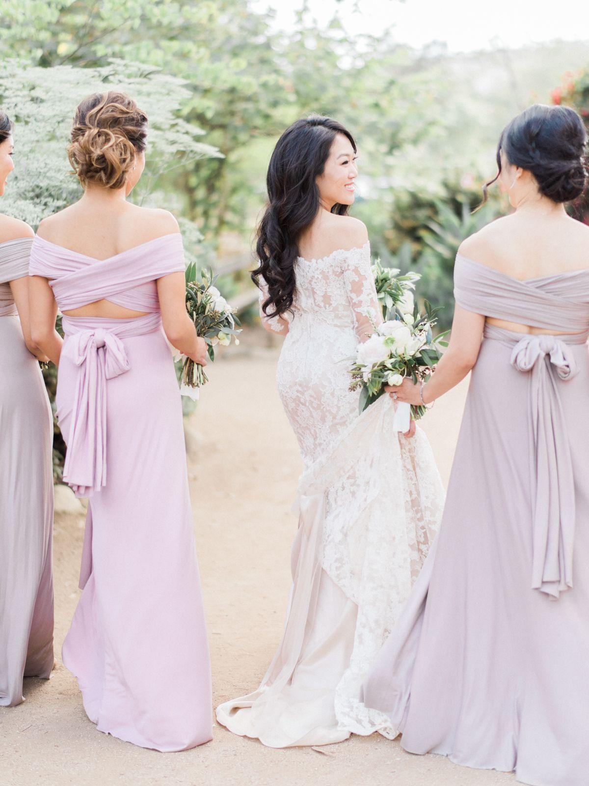The prettiest dusty purple garden wedding purple garden wedding