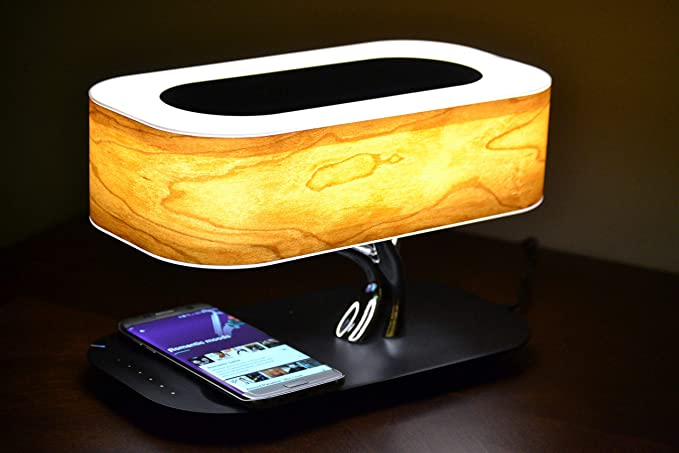 Bedside Lamp With Bluetooth Speaker And Wireless Charger Desk Lamp For All Phones With Wireless Charging By Sbotlight Amazon C Bedside Lamp Desk Lamp Lamp