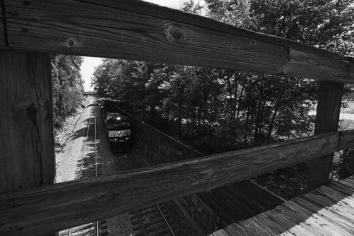 Through the rails