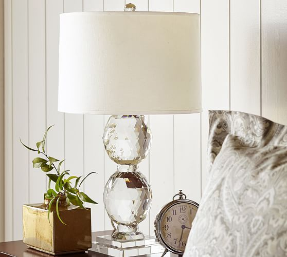 Carlotta faceted crystal lamp base potterybarn