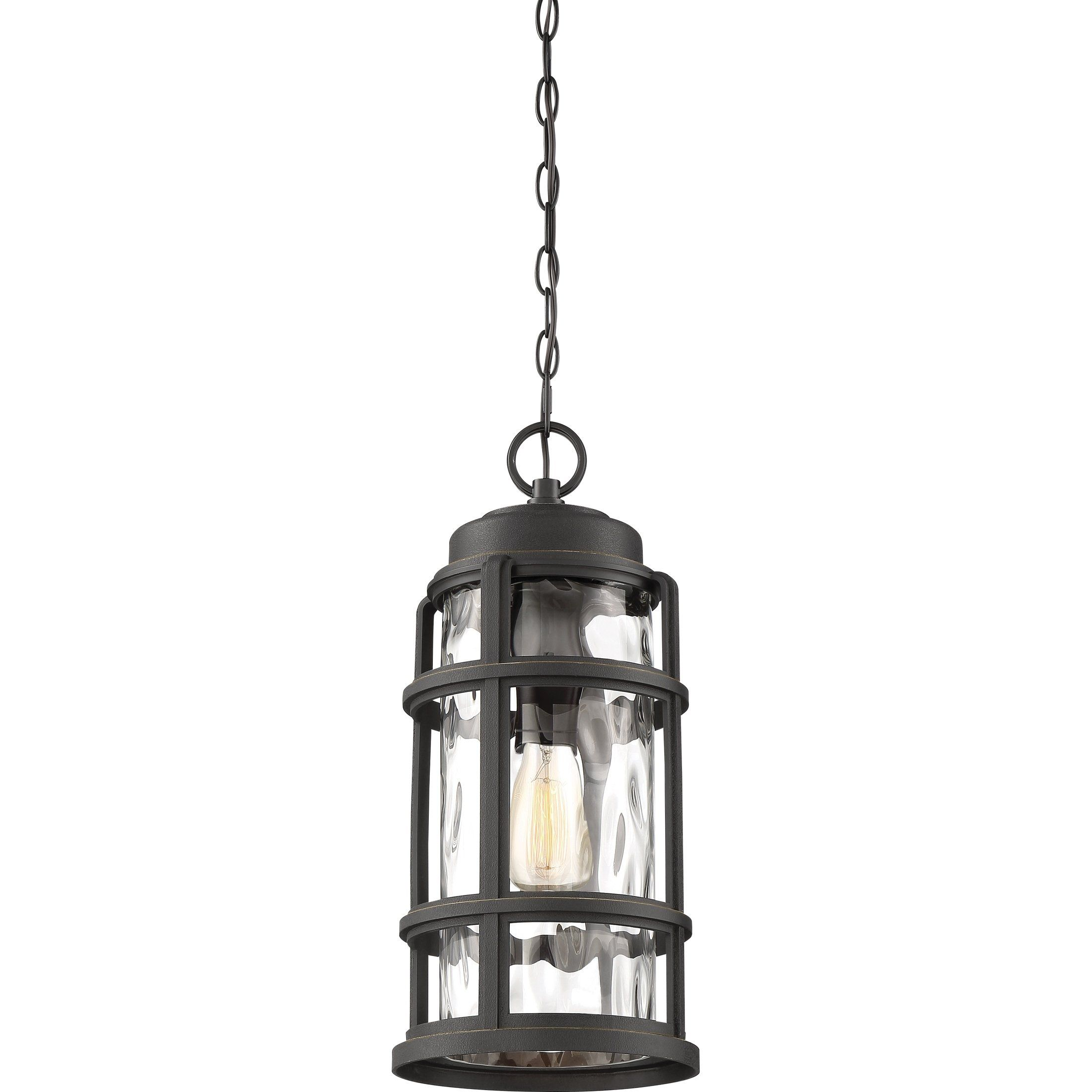 Quoizel Desoto Palladian Bronze Hanging Lantern Black Plastic Outdoor Hanging Lights Outdoor Hanging Lanterns Outdoor Chandelier