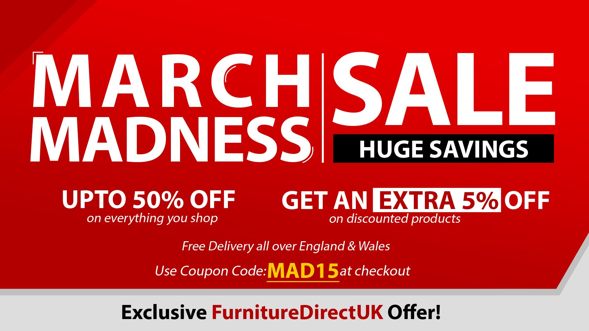up to 50 extra 5 off on march madness furniture sale rh pinterest com