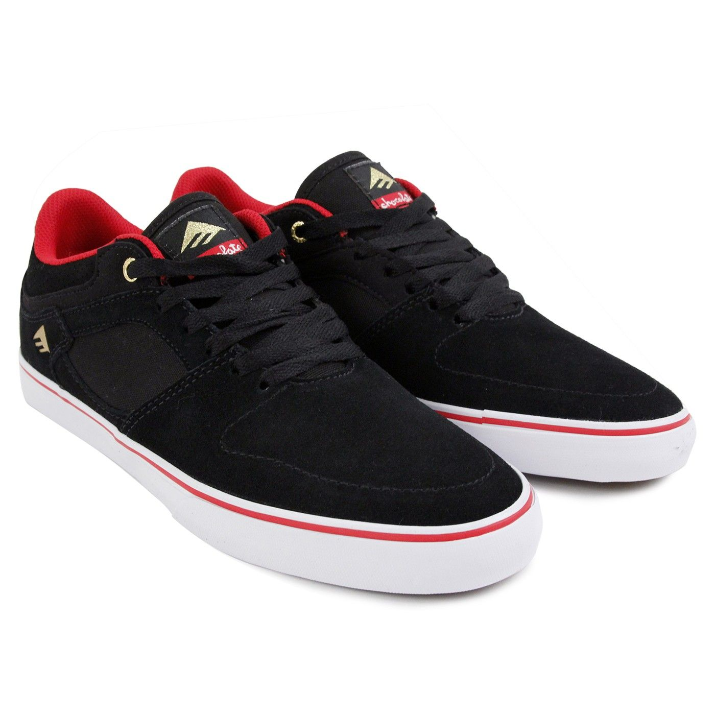 new products ac27e 21a10 The Hsu Low Vulc x Chocolate Shoes in Black   Red   White by Emerica