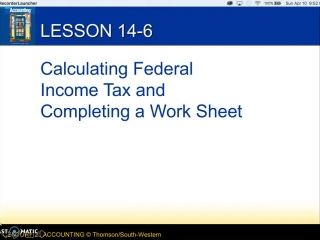 Accounting I - 14-6 - Lecture