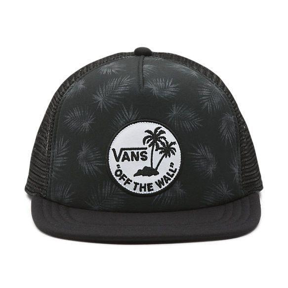 68d6fb480 Vans Surf Patch Trucker Hat - Palm Black in 2019 | Trucker Hats ...