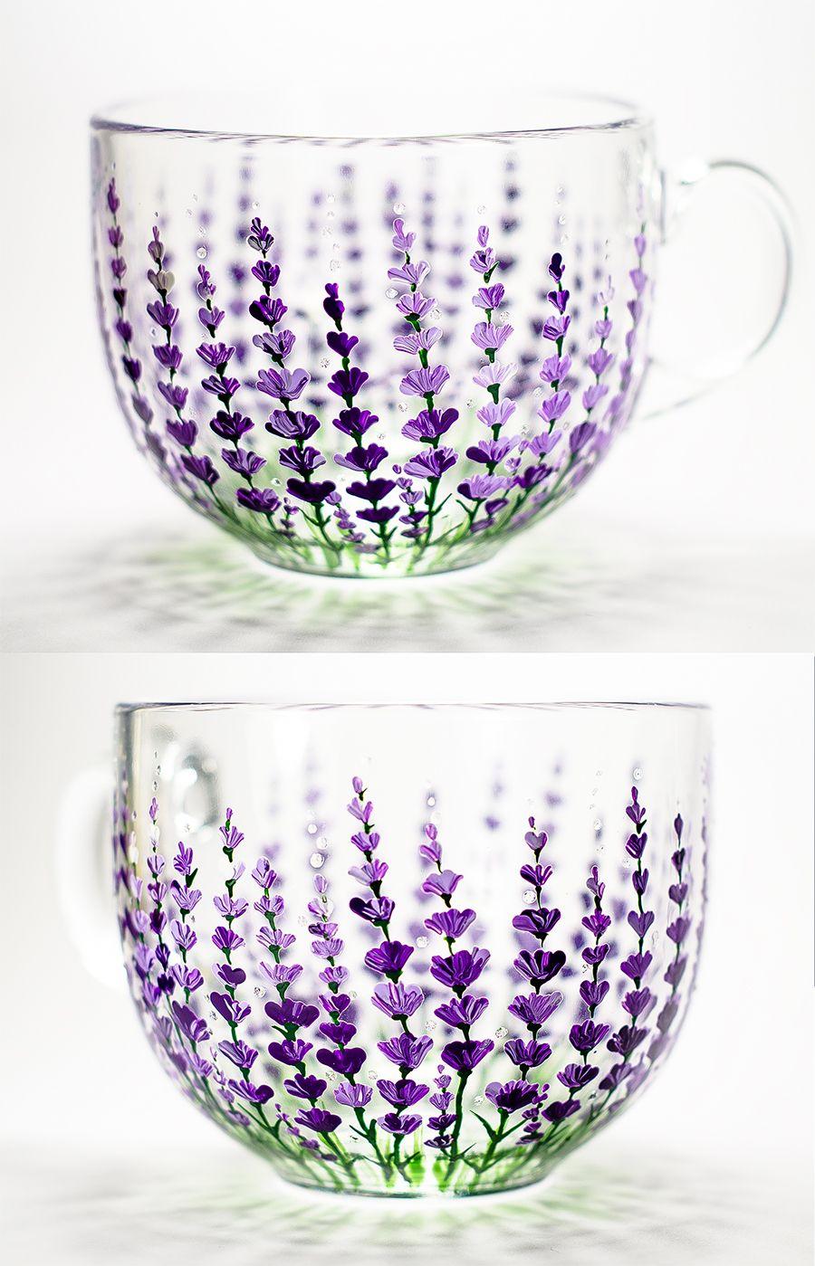 Personalized Coffee Mug Wedding Floral Favor , Lavender Flowers Mug ...