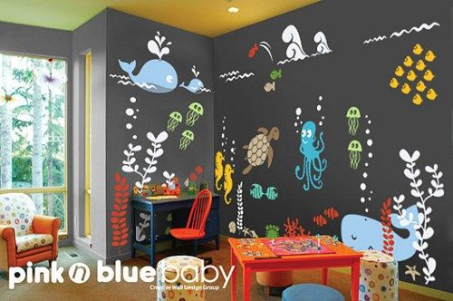 Underwater Aqua World Playroom Wall Decal