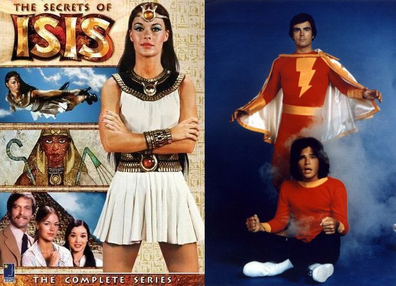 the secrets of isis and shazam favorite cartoons