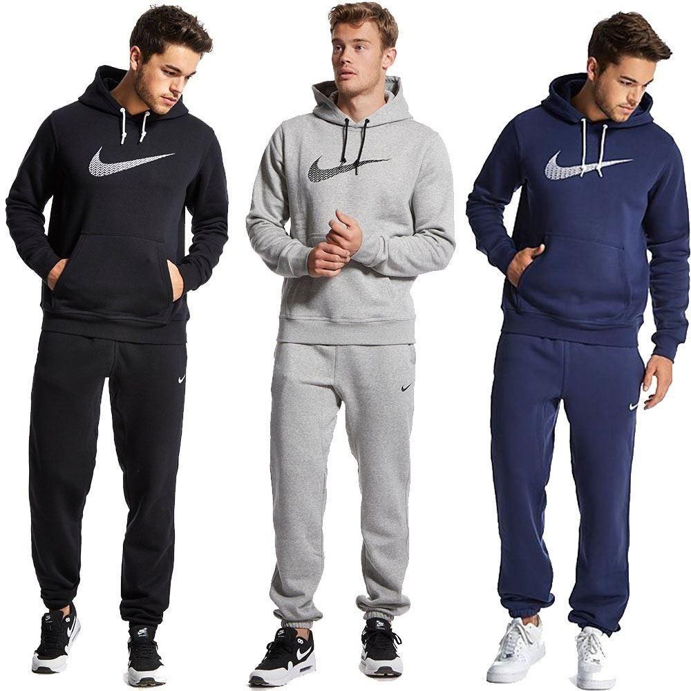 Men Nike Swoosh Fleece Tracksuit Sports Edge99 Nikeairmax Casual Fitness Tshirts Menboxers Summersale Stoneisland W Mens Outfits Tracksuit Nike Sale