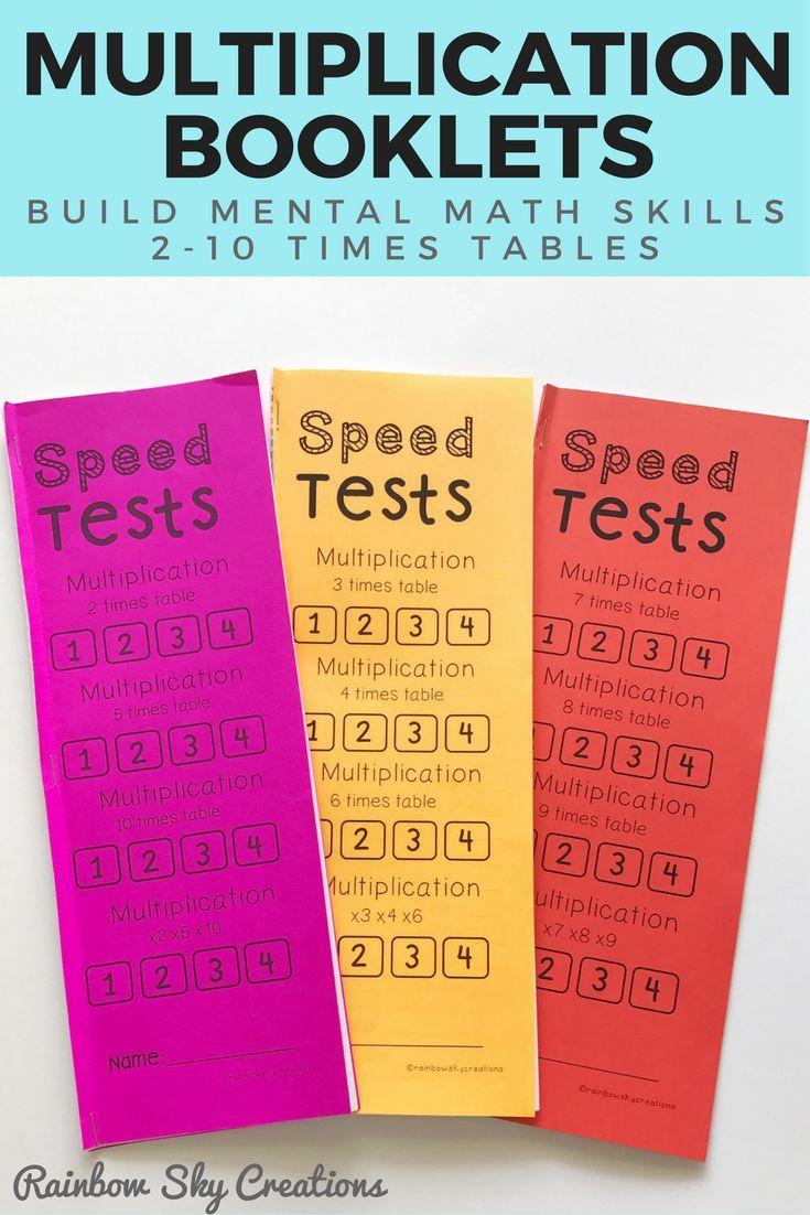 Multiplication Speed Test Booklets BUNDLE - Number Facts | Math ...