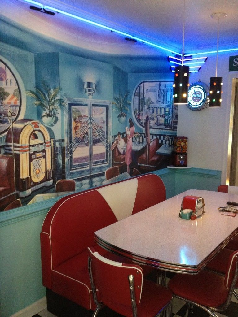 Retro Kitchen Ideas Diner Booth Chairs Tables Home Diner Tafel