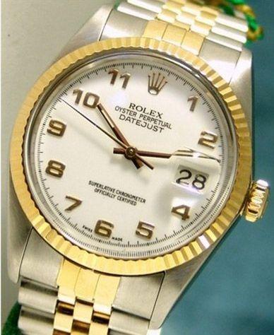 Gentlemen`s 18k Gold Jubilee Rolex Datejust Swiss Watch