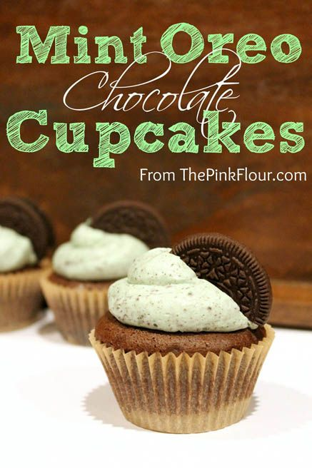Will check the recipe later :) Mint Oreo Chocolate Cupcakes