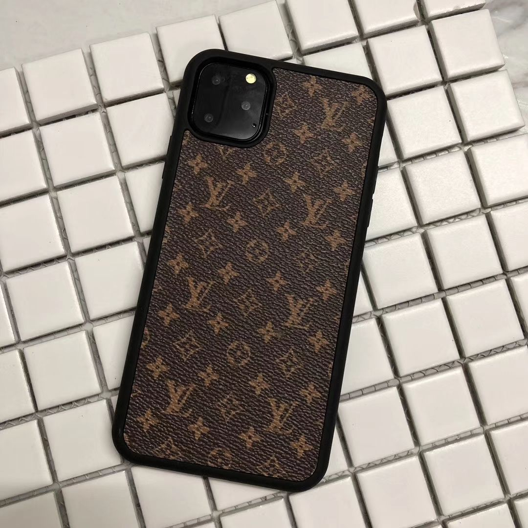 Buy Wholesale Classic Flower LV Protective Leather Back Covers Holster Cases For iPhone 11 - Small Brown from Chinese Wholesaler