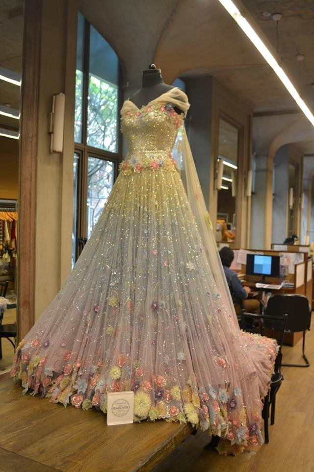 Tarun Tahiliani Couture A Sparkling Swarovski Crystals Studded