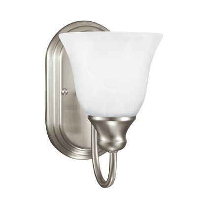 Sea Gull Lighting Windgate 1 Light Bath Sconce Finish: Brushed Nickel