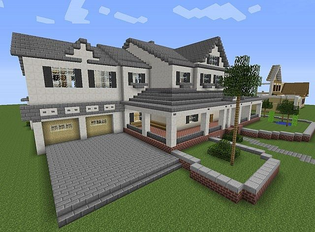 Minecraft maison moderne maison ou b timent minecraft for Pool design by laly