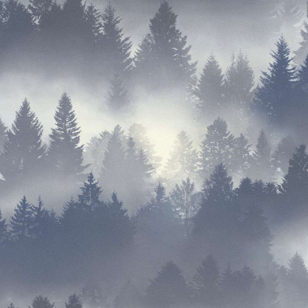 Wand Graublau: Tapete Barbara Becker B.b. Wald Blau Grau 860832