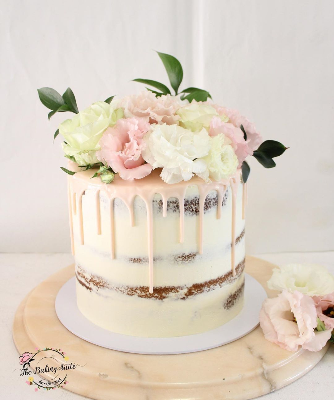Soft Pink Baby Shower Cake Congratulations Kim the baby is