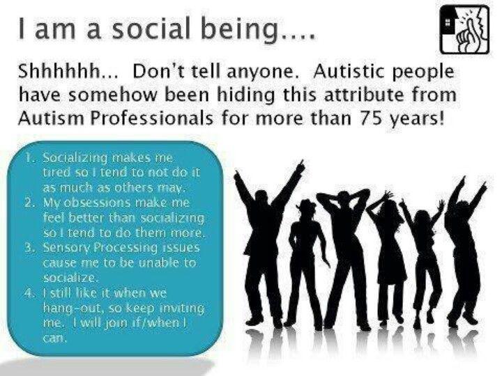 Socializing  | Autism Awareness | Aspergers autism, Autism