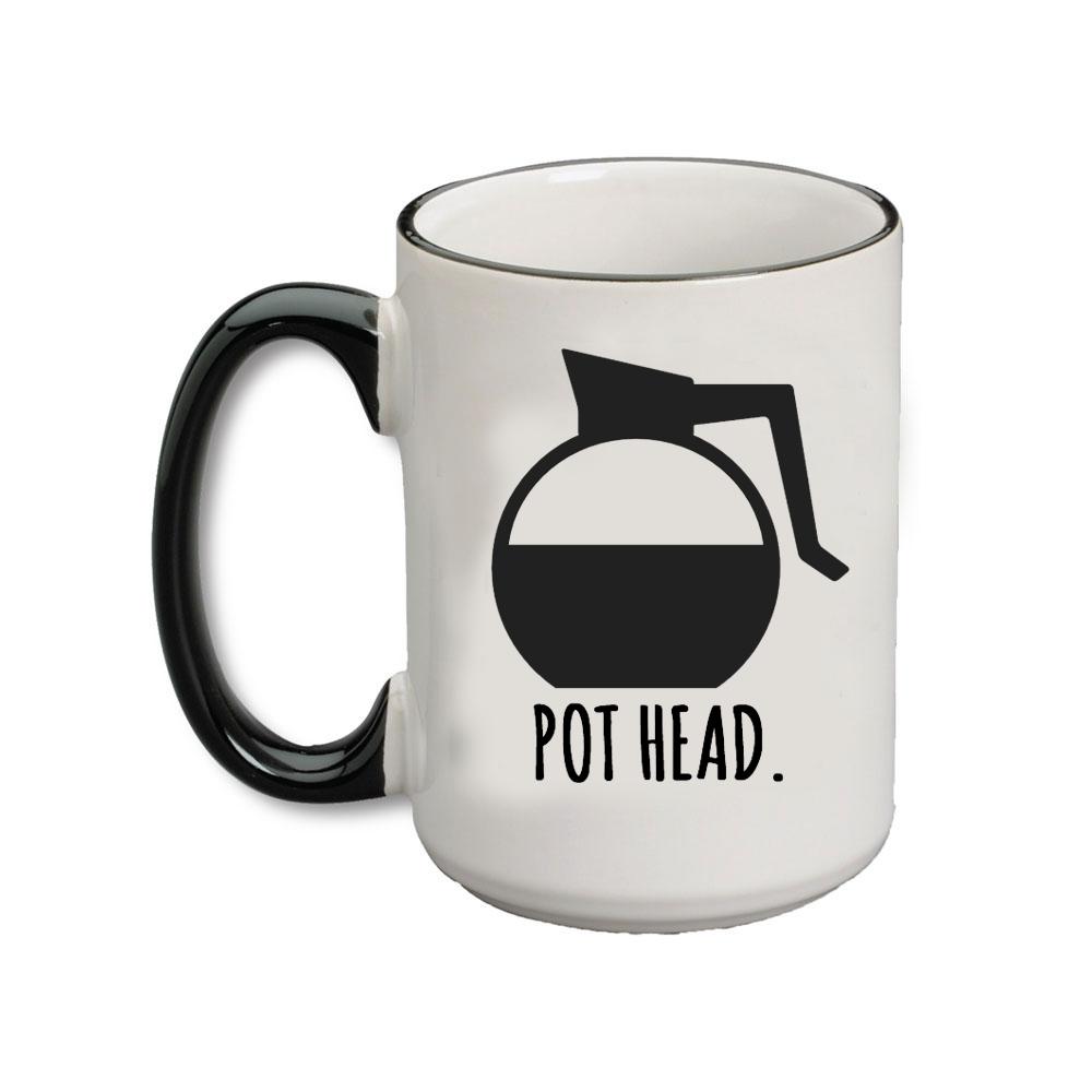 (Coffee) Pot Head Bistro Mug Mugs, Funny coffee mugs