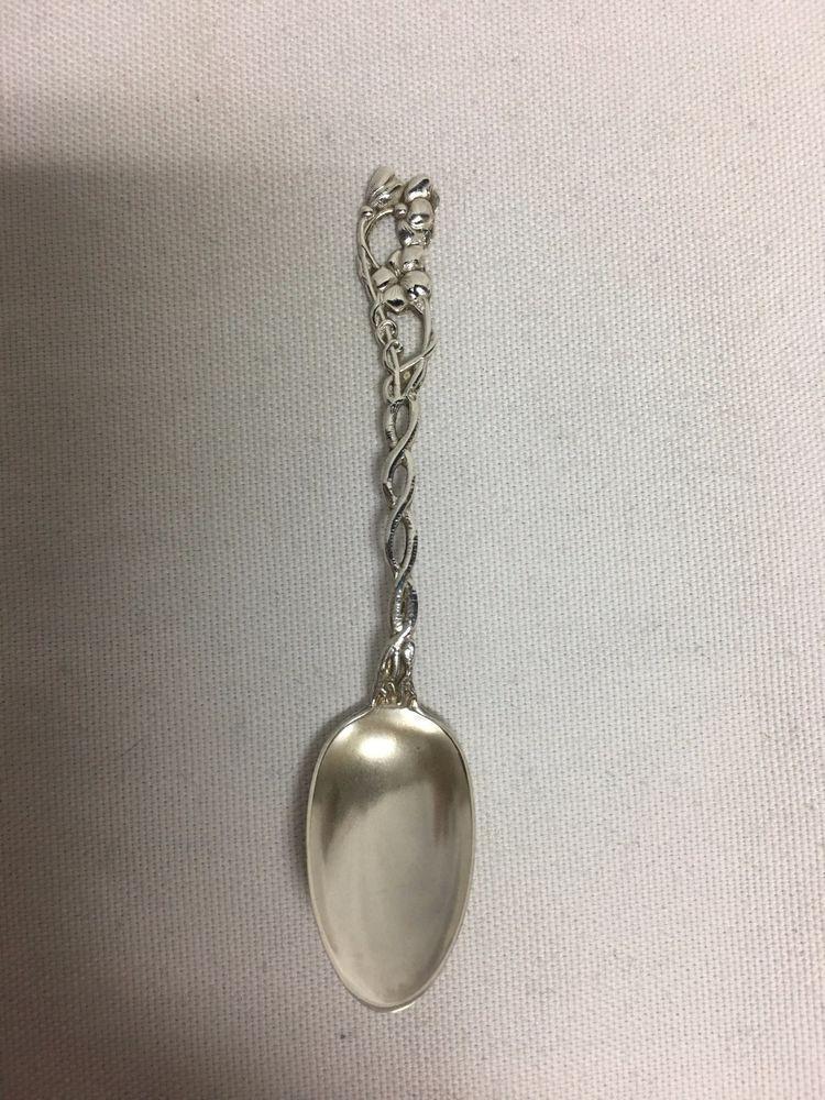 "Wallace STRADIVARI Sterling Silver Demitasse Spoon 3 7//8/"" No Monos"