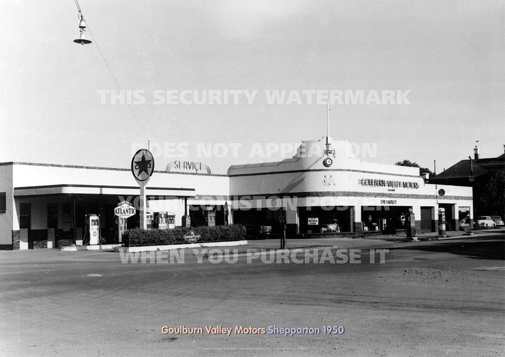Goulburn Valley Motors Holden Shepparton 1950 A3 Picture Image ...