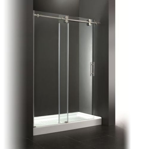 Ove Decors Sydney 56 0 In To 59 5 In Frameless Polished Chrome Sliding Shower Door Sliding Shower Door Chrome Shower Door Shower Sliding Glass Door