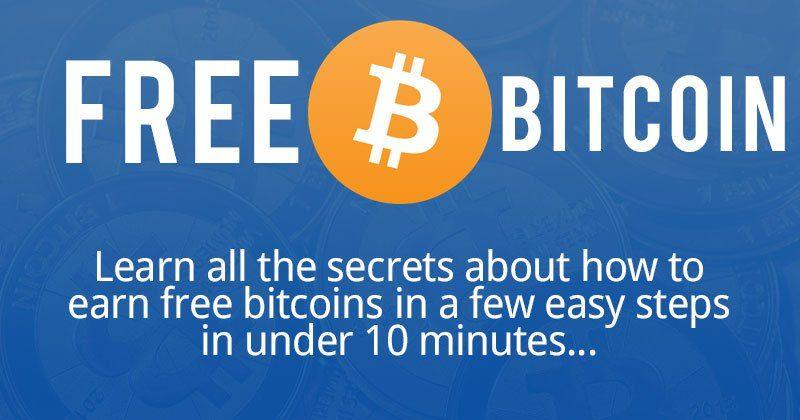 how do you get bitcoins for free