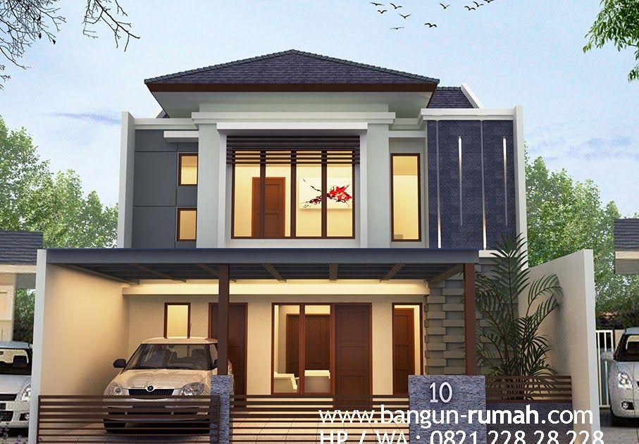 Desain Rumah 2 Lantai 9 X 15 M2 Desain Rumah Bekasi Desain Rumah 9 X 15 M2 2 Lantai Minimalis Tropis Desain R Simple House Design House Design Simple House