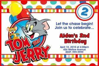Tom Jerry Invite