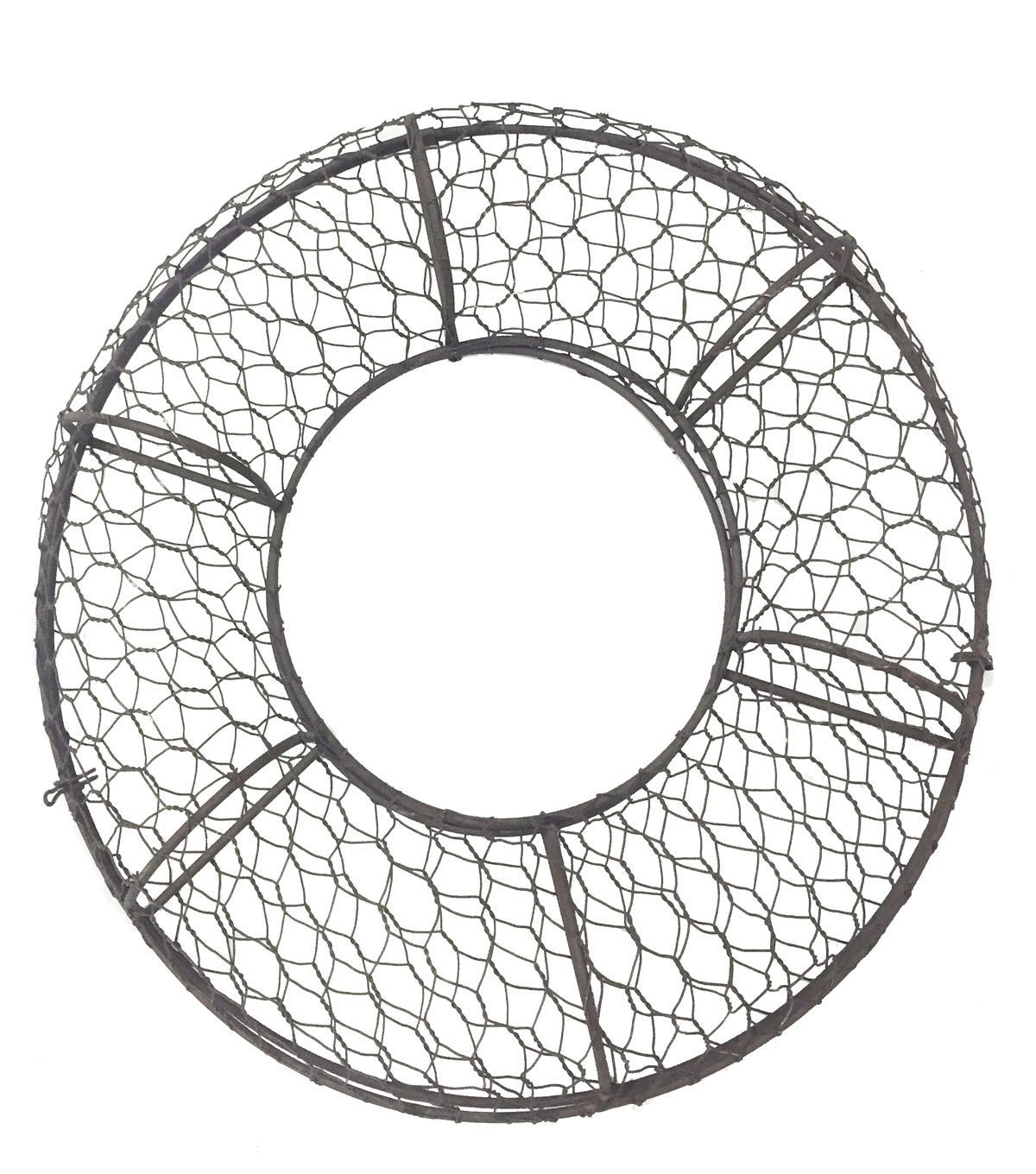 blooming spring 11 75 u0026quot  caged chicken wire wreath