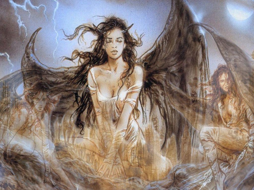Luis Royo Angels | Free Luis Royo - Fallen Angel Wallpaper