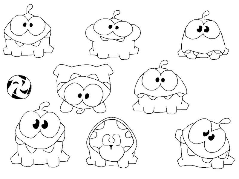 Om Nom Cut The Rope Coloring Pages Stuff To Buy Pinterest