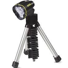 Stanley tripod LED flashlight. How Handy Hubby gets things done.
