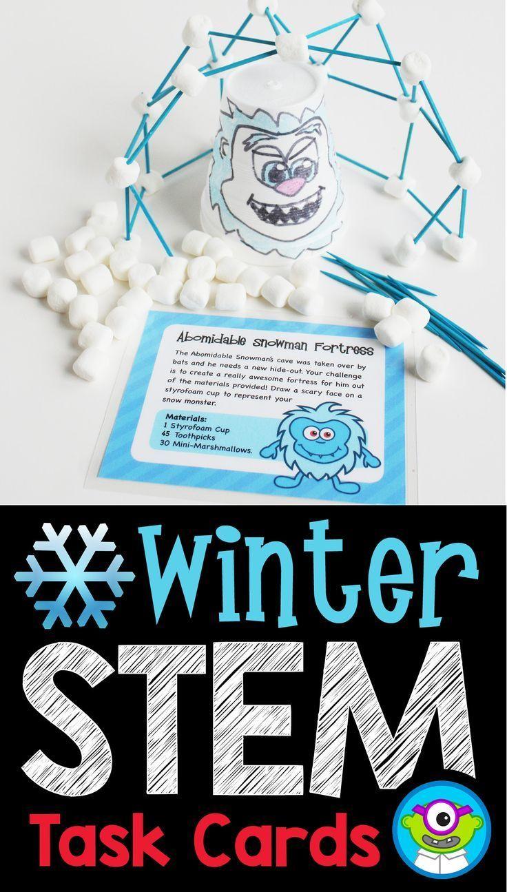 Photo of Build a Snowman Winter STEM Activity