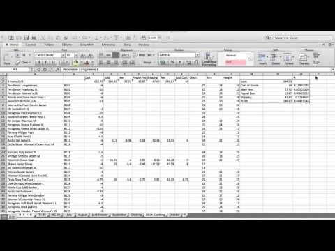 Track Your Sales! eBay Inventory Spreadsheet - YouTube Blogging - sales spreadsheet