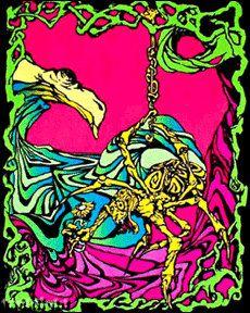 Spider Flower Black Light Poster