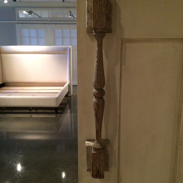 Awesome door pull for rolling barn door. #providencedesign #providenceltddesign #providencedesignblog #doorhandle #barndoor