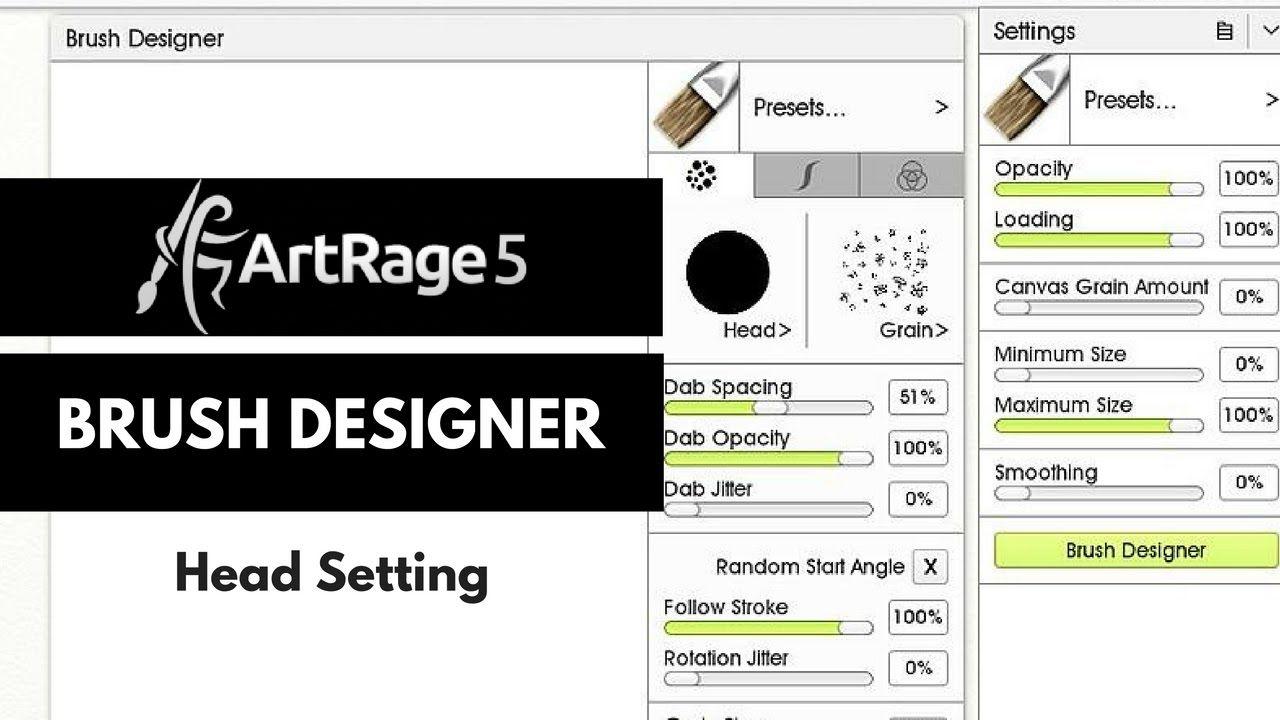 ArtRage 5 Brush Designer Head Settings Artrage, Brush