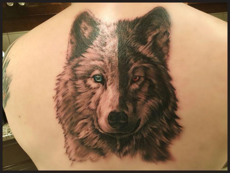 66a118c014533 White wolf black wolf tattoo | Tattoos!! | Wolf tattoos, Cherokee ...